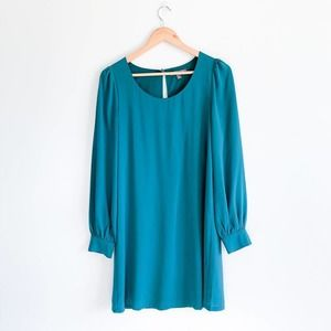 Tinley Road Teal Blue Green Shift Dress